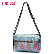 Name brand casual rectangle sublimation shoulder bag lady printed messenger bag 2018