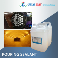 PU transparent pouring sealant of thermal conductivity for LED