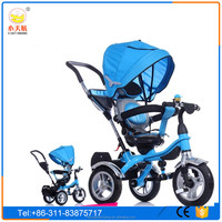 Factory price 306 degree rotating baby tricycle with canopy