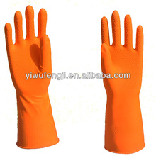 cotton lined or flock lined household latex rubber gloves