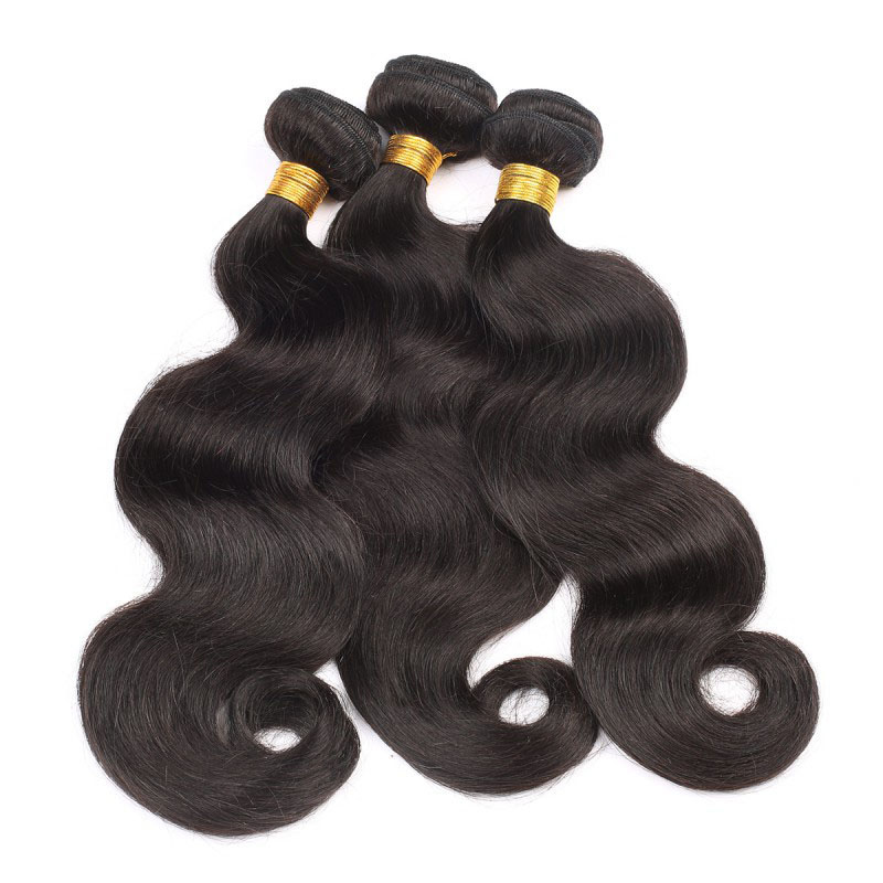 china factory 10 inch human hair extension HW2981 color 1b brazilian hair for ebony lady