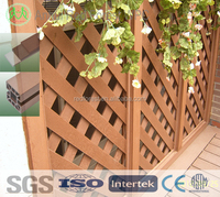 anti-craking wpc wood plastic garden fence designs