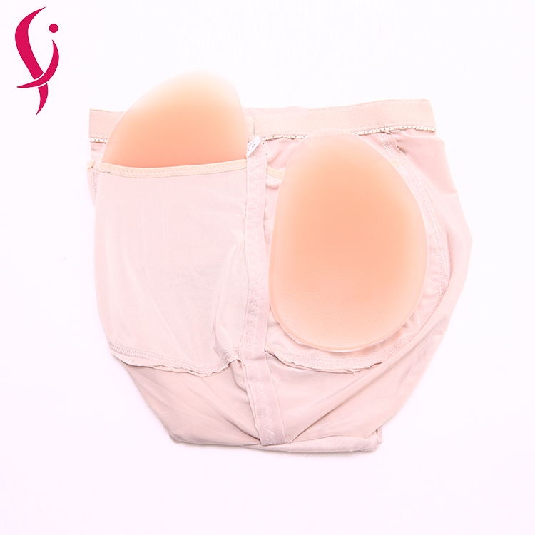 Silicone lift up buttocks latex rubber sexy panties