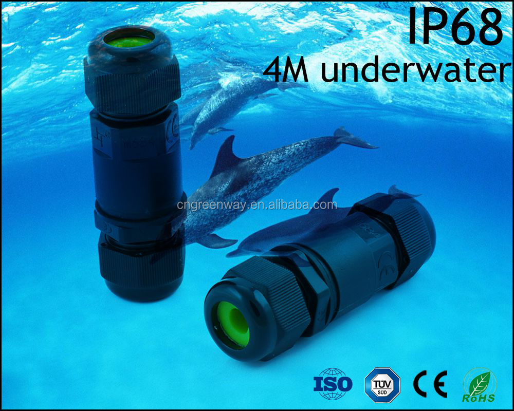 screw line to line ip68 waterproof ourdoor underwater cable terminal connector