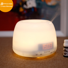 400ml Alarm Clock Ultrasonic Aroma Essential Oil Scent Diffuser LED Light Mist Humidifier