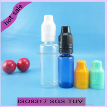 Eye Drop Use and Screen Printing Surface Handling childproof cap plastic Eliquid dropper bottles