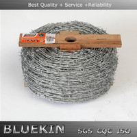 your chioce 35kg weight galvanized or pvc coated barbed wire