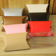Multi color pillow kraft paper wedding favors party gift box