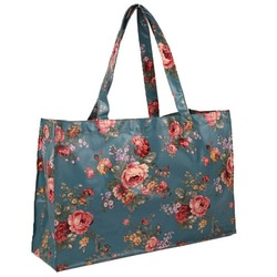 European Newest Full Printed Coated Cotton Shopping Bag Reinforced Tote Bags