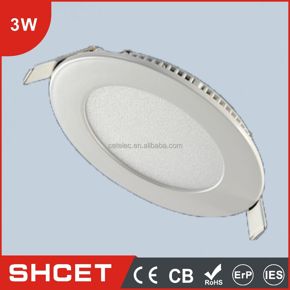 CE ROHS approved small led flat panel lights round/square 3w 6w 9w 12w residential led lighting