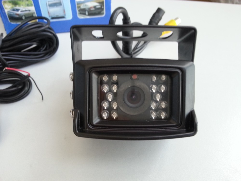 DC 12V - 24V 120 Degree Waterproof Color Ccd Reverse Backup Car Truck Bus Camera With IR Night Vision