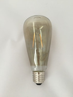 B22 E27 Retro Filament Clear Light Bulbs Edison Antique Style 2W 4W 6W 8W ST58 ST64 2200k grey glass Dimmable LED Filament Bulb