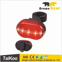 5 red led chasing/flash/steady/off lights for bicycles cycling light