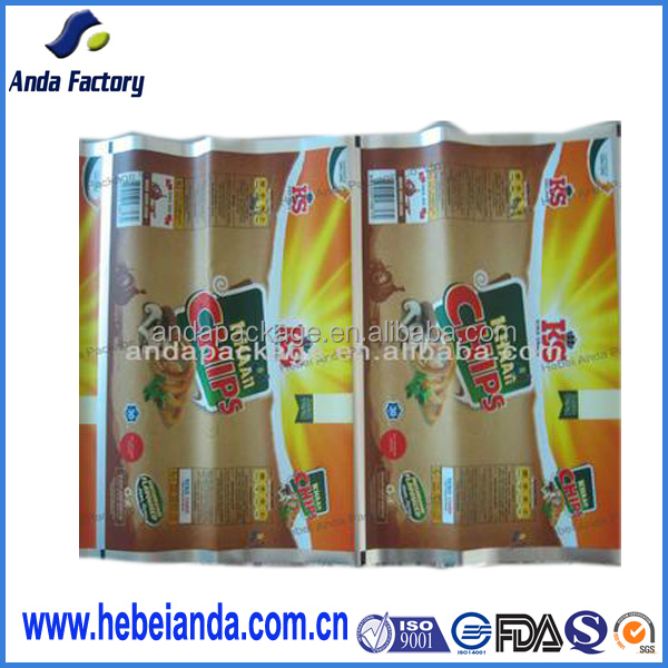 customer order accept BOPP/VMPET/PE plastic apple chip packaging