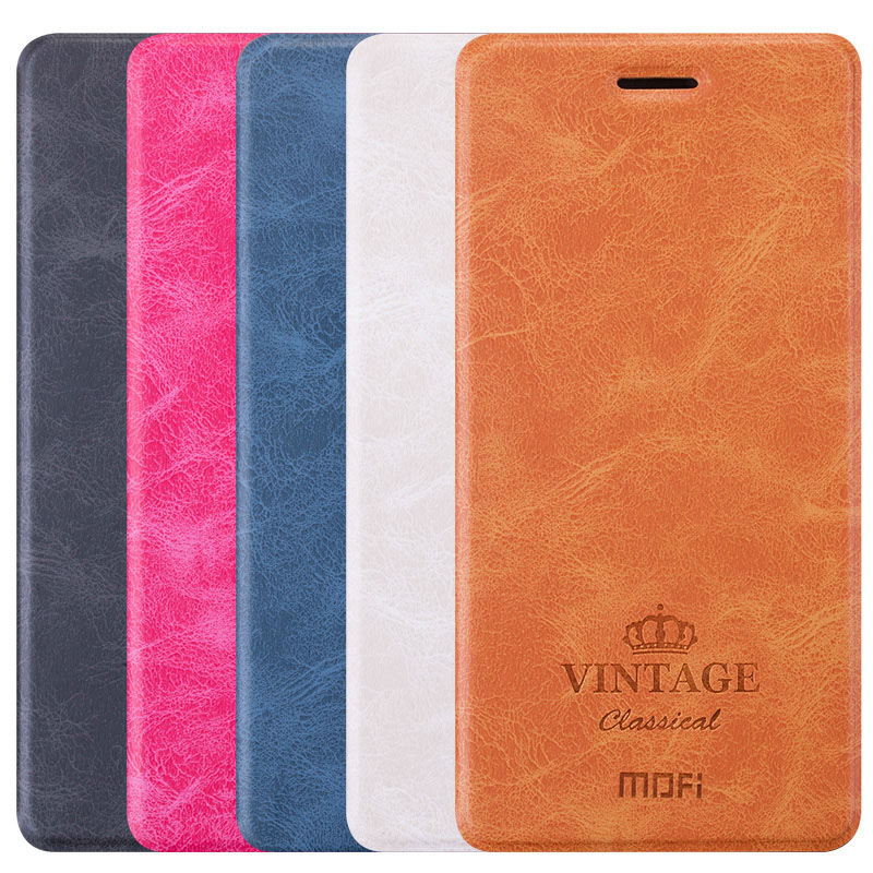Mofi brand Vintage Classical Series Steel Plate leather case for xiaomi redmi note 4
