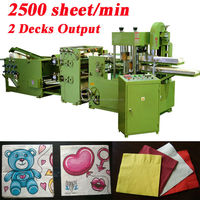 Copy Italy Design Fastest 2500 Piece Per Minute Embossing Printing High Speed Automatic Napkins Making Printing Machine
