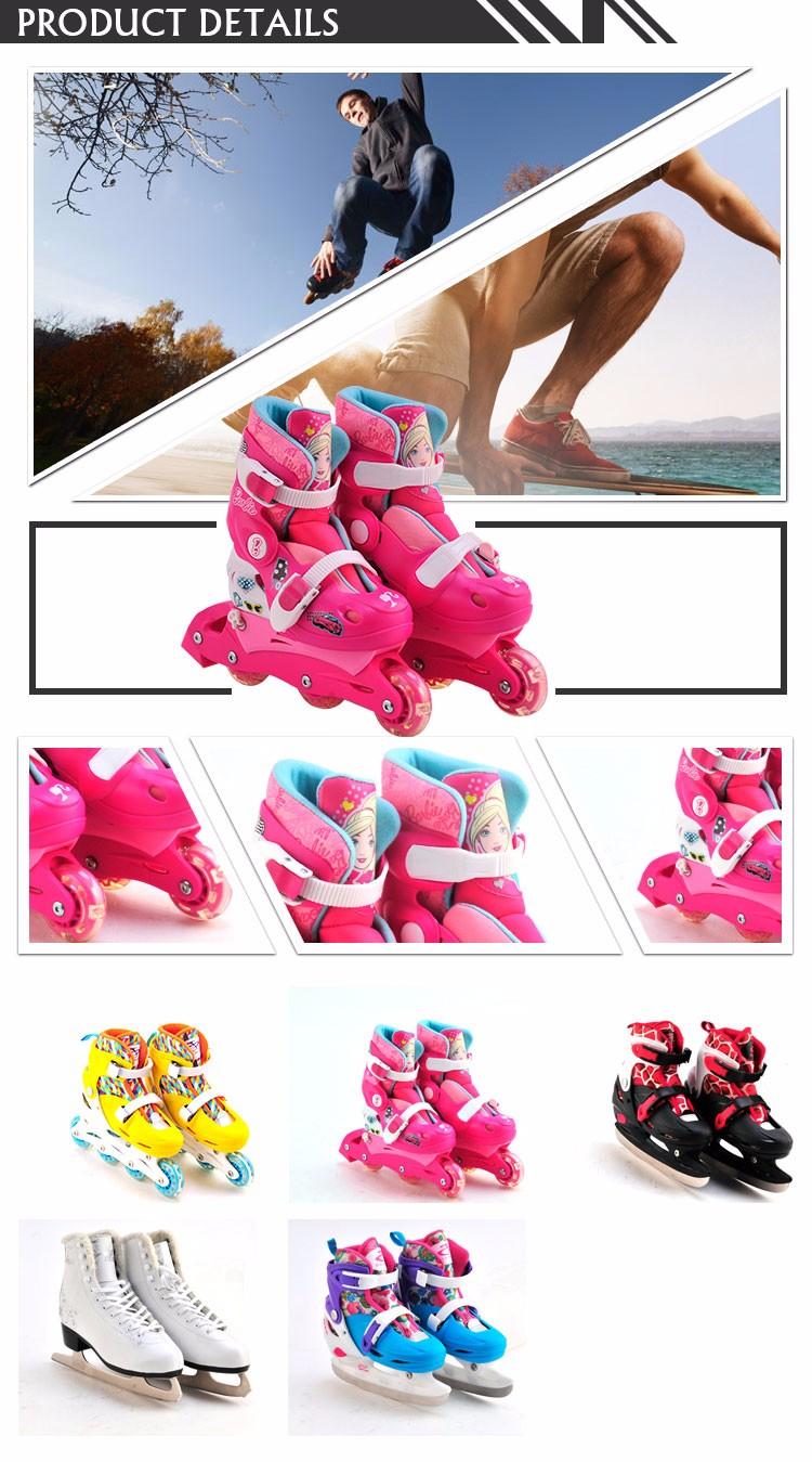 Tamanho Bom design rolo ajustável sapatos de skate em linha