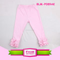 Kids Wholesale Ruffle Pants Solid Cotton Triple Ruffles Pants Baby Girls Icing Leggings