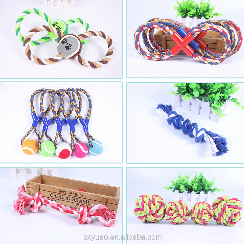 OEM dog cotton rope knot toy pet chew molar products