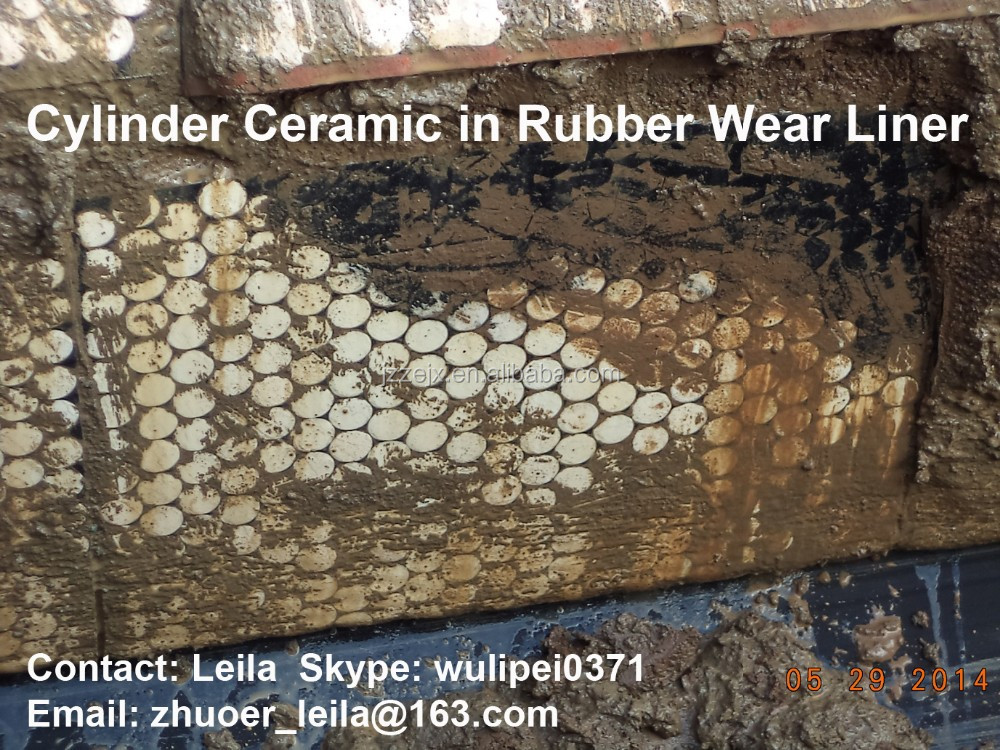 Wear and Impact Resistant Ceramic Wear Lining System