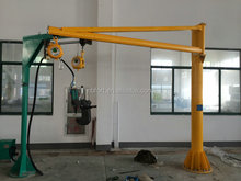 270 Degree Rotating Floor Mounted Electric Wire Rope Small Jib Crane
