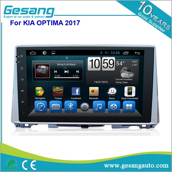 car dvd gps navigation Quad core android system car stereo car dvd player for Kia Optima 2017