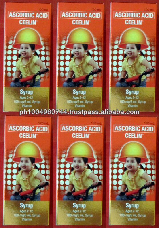 6 Ceelin Ascorbic Acid Vitamin C Syrup for Kids 720ml