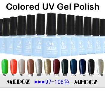 2014 HOT nail art Colored UV Gel Polish,15ml/1KG soak off/ON-Step soack off color uv gels,120 fashion colors NO. 77-108