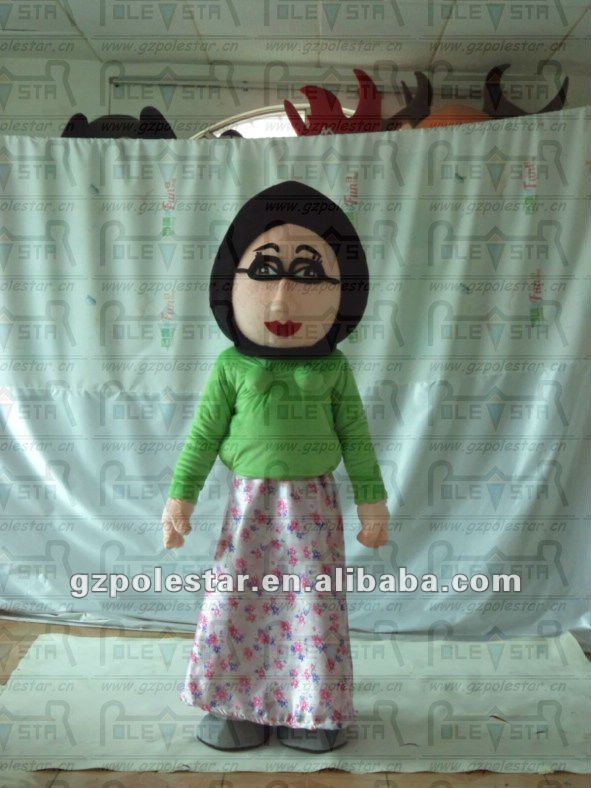 old lady mascot costumes cartoon arab costumes