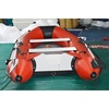 aluminium floor inflatable pontoon rescue banana motor boat for sale