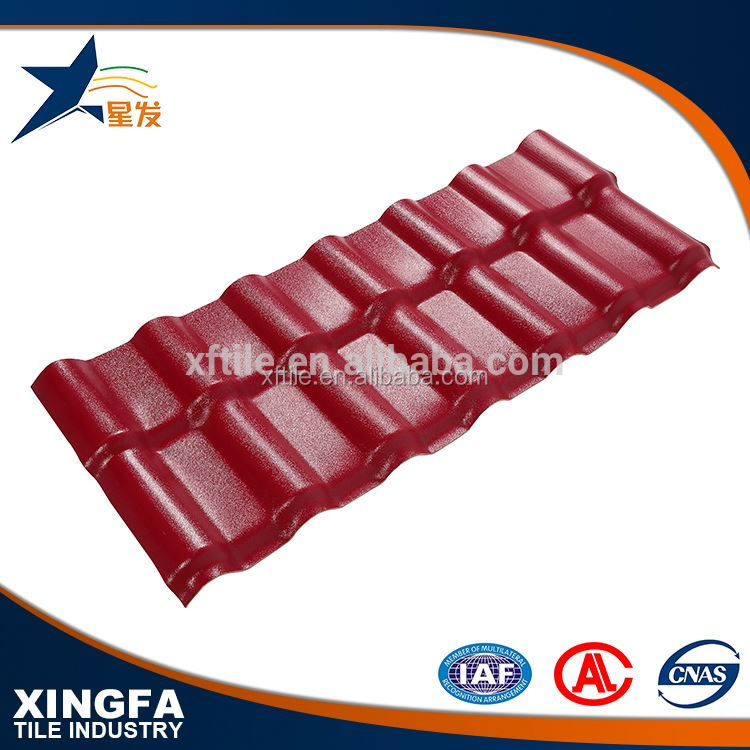 Good shock resistance material synthetic resin roof tile