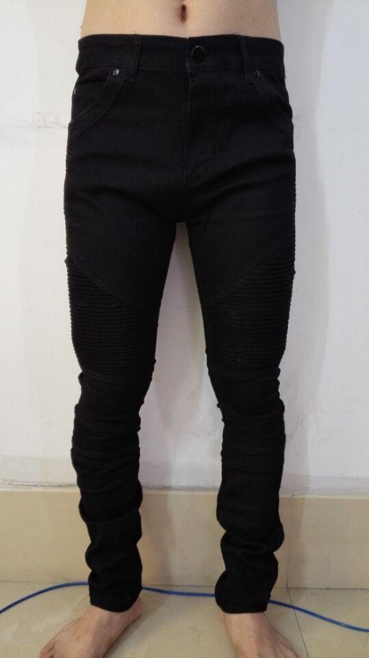 vier farben schwarz grau blau gold herren biker skinny jeans f r m nner schlanken elastischen. Black Bedroom Furniture Sets. Home Design Ideas