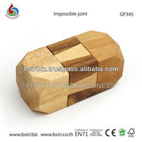 wooden iq puzzle Impossible joint