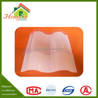Temperature resistant corrugated plastic roofing sheets for greenhouse of Chinese roof design
