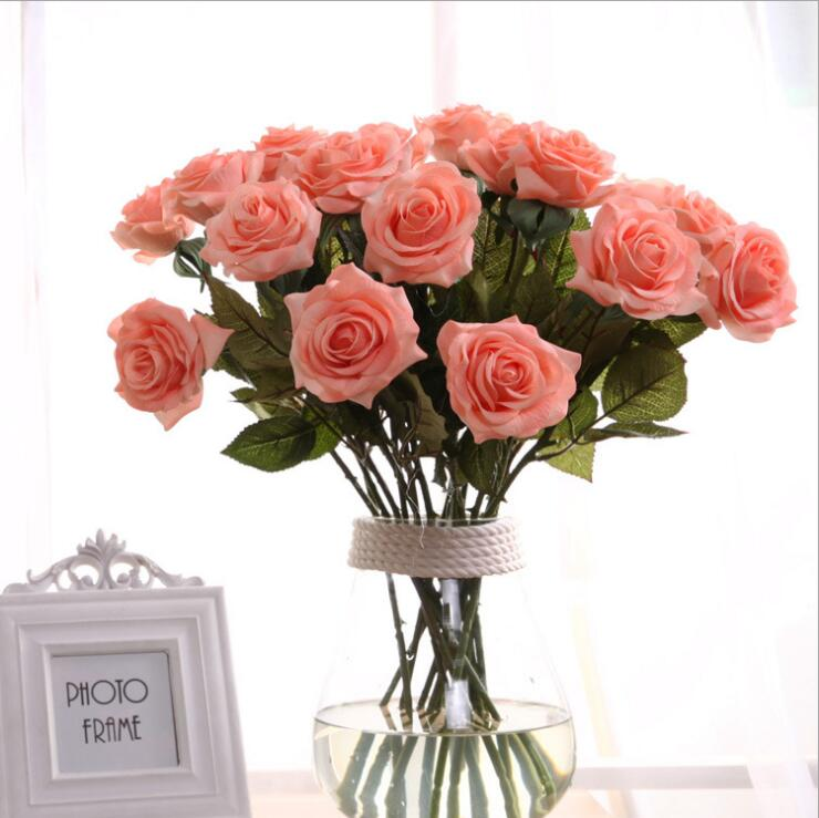Wholesale Artifical Flower Rose Artificial Flower Silk Flower Wedding Decoration