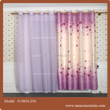 Fashion antique embroidery sheer curtain/cafe curtain/Printed Blackout fabric curtain