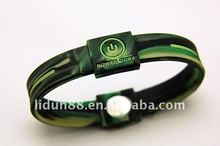 2012 high quality power core bracelet sport charming silicone ion band
