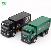 1:36 Express car model mini truck Toy car classic container truck toys for boys
