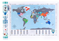 New World Map with Scratch off Flags Edition Tube Packaging Scratch travel world map