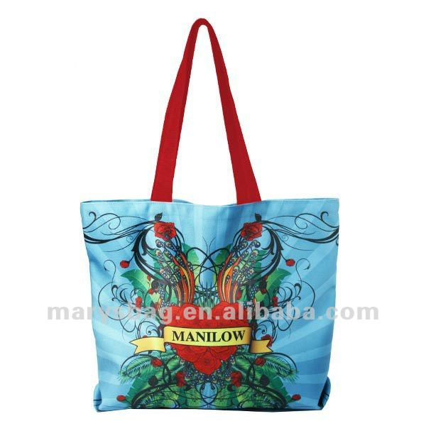 fully sublimated polycotton oversized tote bag
