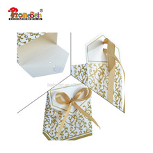 100 gold wedding favour candy gift invitation sweet cake gift candy boxes bags anniversary party