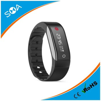 SMA-COACH Fitness Tracker Smart Bracelet Bluetooth 4.0 Smartband Heart Rate Monitor Pedometer For IOS Samsung Android PK Fitbit