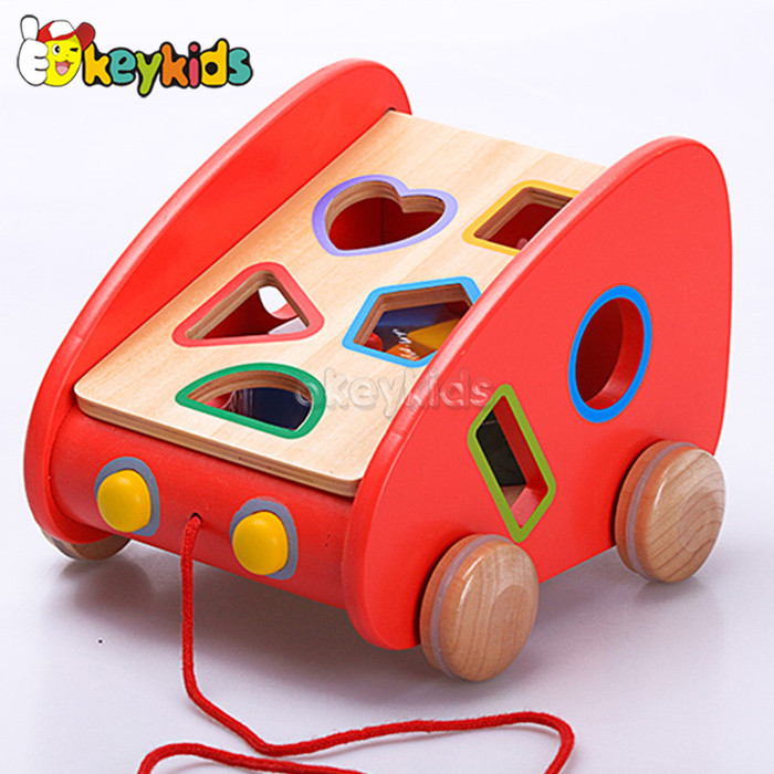 2016 wholesale wooden multifunctional block toys, educational wooden multifunctional block toy, W12D036