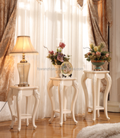 circinal wood top flower stand&coffee table/Supporting the White / high-grade wood flower flower