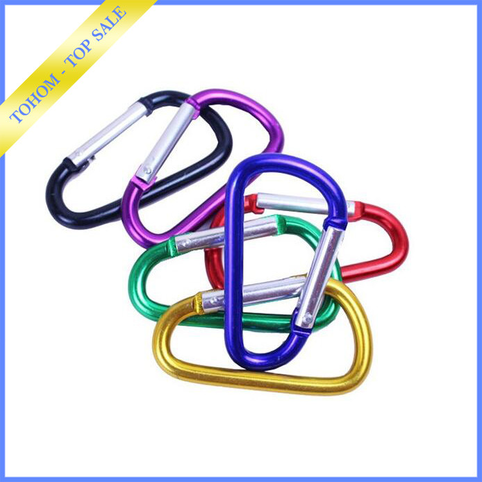 Camping Metal Carabiner Spring Loaded Clips Hook