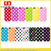 Candy color Polka Dot TPU cover case for iphon5 5S little bubble housing for iPhone5 5S Protective cover case wholesale