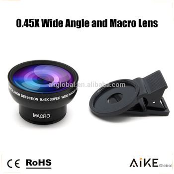 Mobile Phone Accessories 45x Wide Angle 10x Macro Cell Phone Camera 2 in 1 Lens Kit