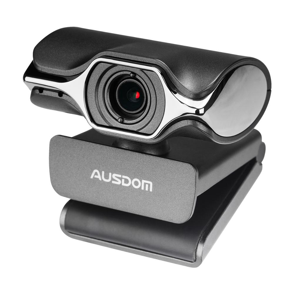 1080P HD Video Webcam Fold-and-Go USD Web Camera with Build-in Mic Manual Focus Web Cam for PC Laptop Desktop