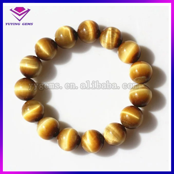 Semi&precious stones wholesale price eye tiger natural 8mm for bracelets