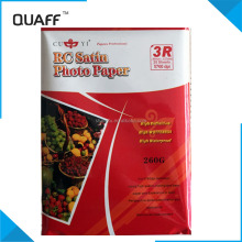 RC satin photo paper and inket photo paper 3R/ A4